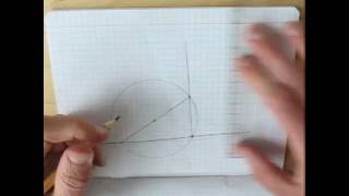 Построение перпендикуляра к прямой из данной точки этой прямой - быстрое повторение.