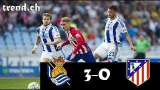 Download Video Real Sociedad vs Atl. Madrid 3-0 Highlights & Goals MP3 3GP MP4