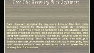 Free File Recovery Mac is Easy With Mac Recovery Tool