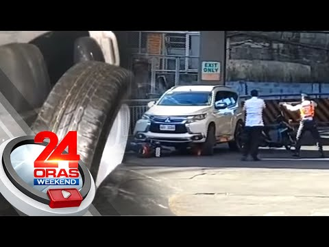 Mga nagnakaw ng spare tire ng mga sasakyan sa parking lot, tinutugis... | 24 Oras Weekend