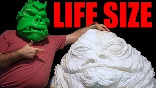 3D Printing a Life Size Jabba the Hutt! (Part 1, Sponsored by MakerGeeks)
