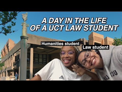 I SPENT A DAY IN THE LIFE OF A UCT LAW STUDENT || South African Youtuber