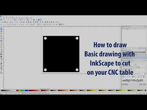 Using InkScape to make basic drawings to cut with your CNC Table