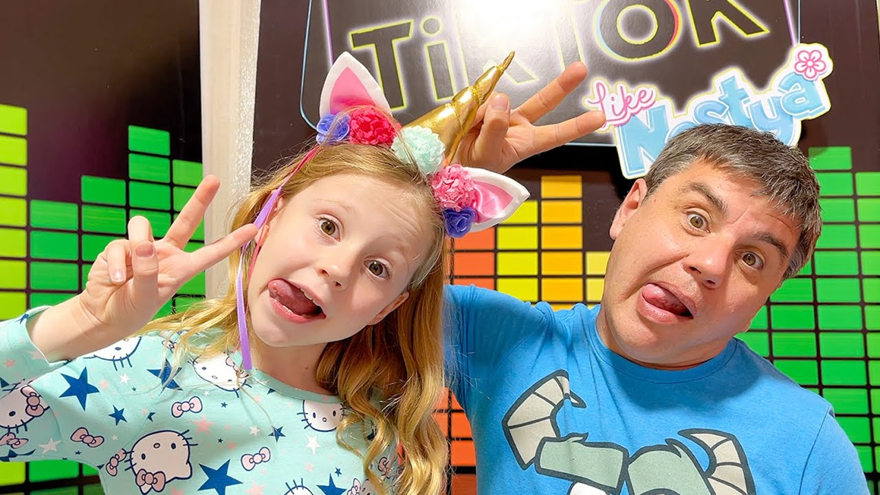 Nastya and Daddy - copy me challenge
