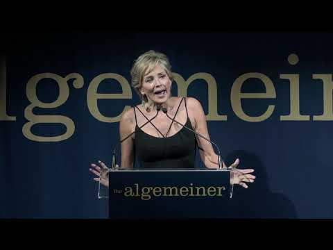 Algemeiner J100 Gala, 2018: Actress Sharon Stone Accepts Warrior for Truth Award