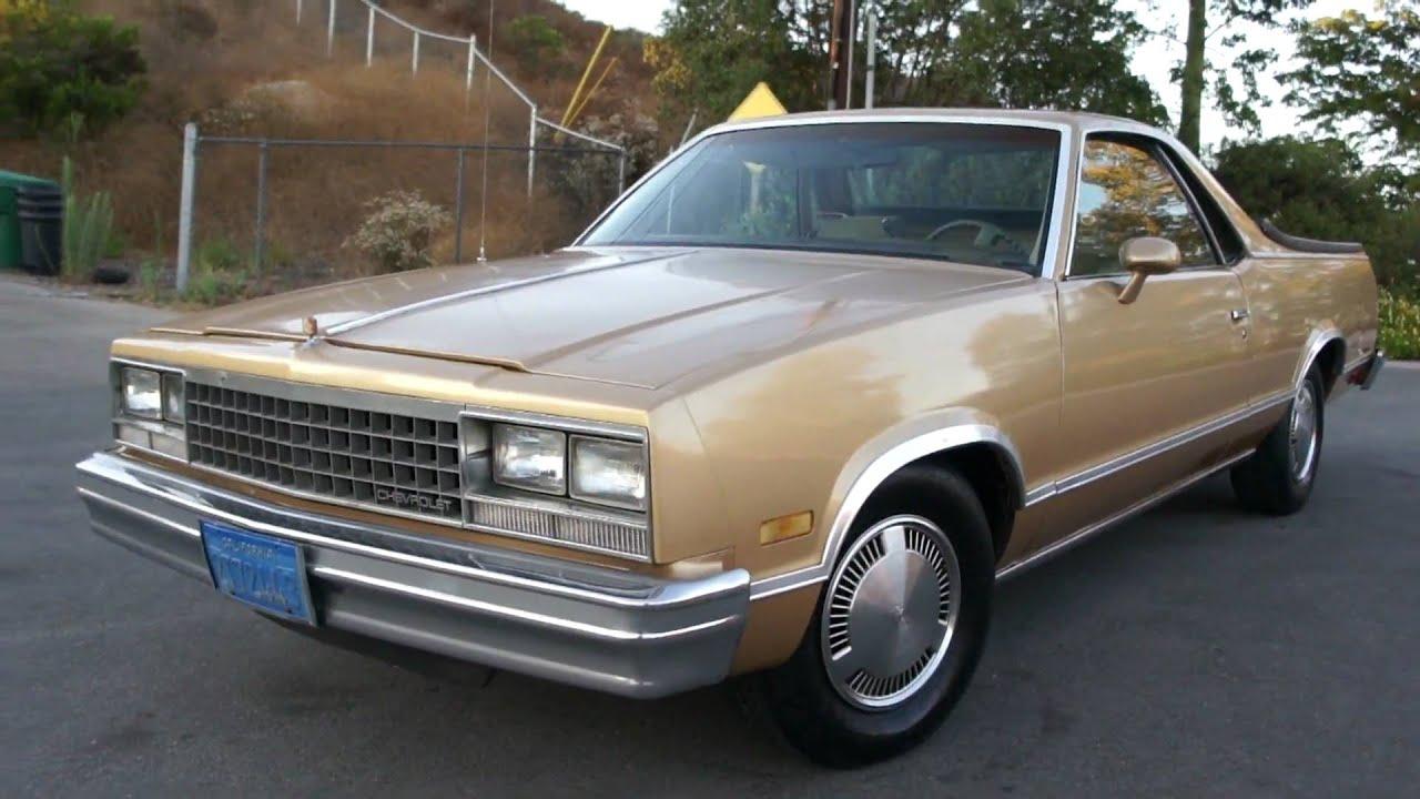 1985 Chevy El Camino Conquista 1 Owner 87k Orig Mi Chevrolet For ...