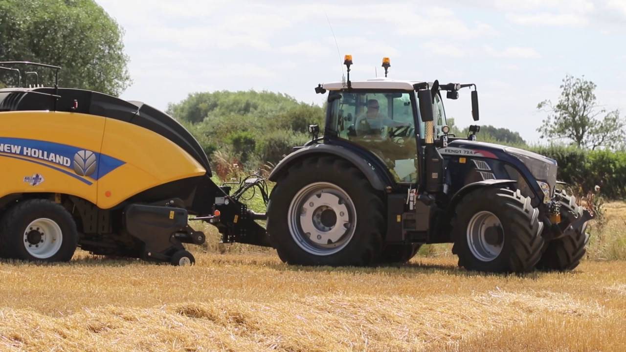 new blue fendt 724 and new holland big baler 890 tractor supplied by