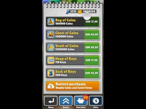 Subway Surfers Cheat (Ios/ with Jailbreak/Coins/Keys)