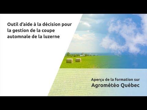 Agrométéo Québec - Outil d'aide à la décision pour la gestion de la coupe automnale de la luzerne