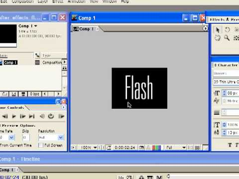 After Effects And  Flash-Part 1