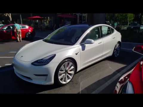 Performance Tesla Model 3 Awd Delivery White Interior Package