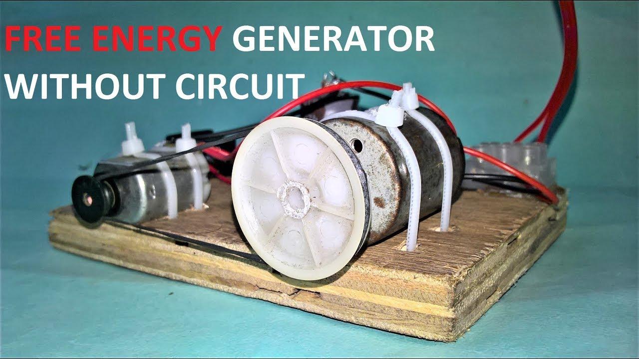 Free Energy Generator Without Circuit Using Dc Motor