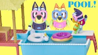 BLUEY House Pool Play Set with Bingo & Surprises!