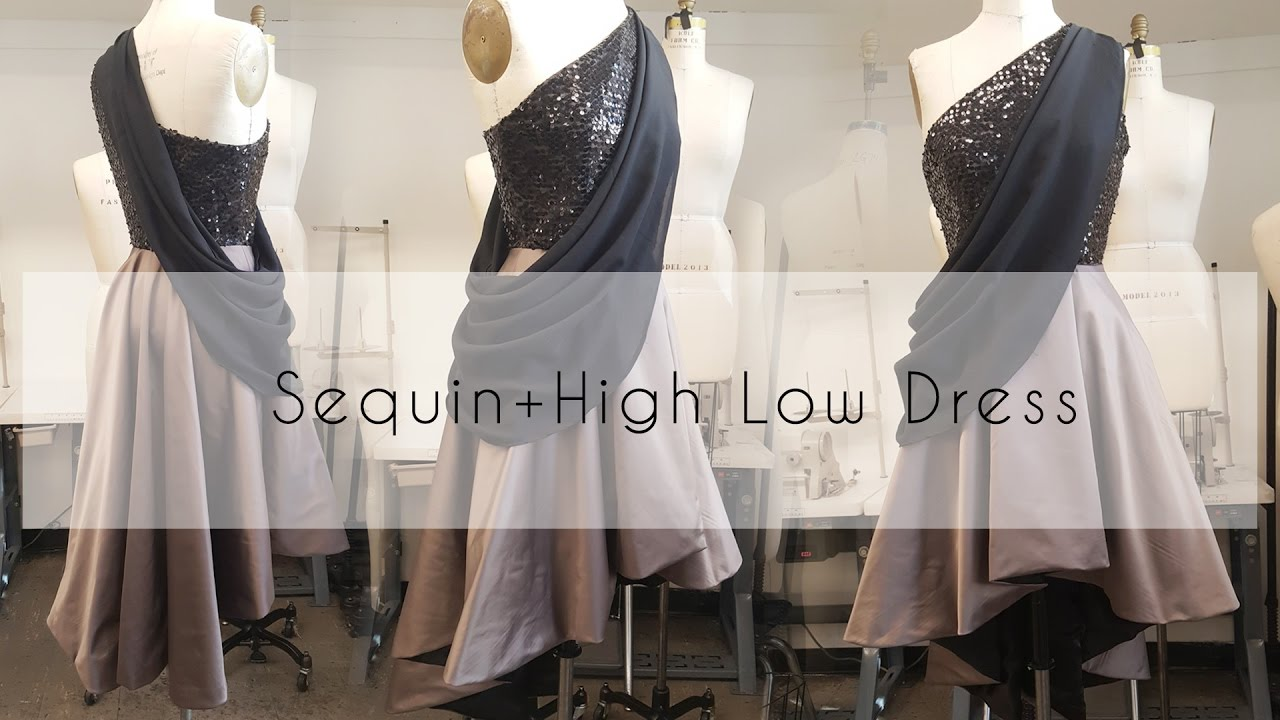 DIY: Sewing an Evening Gown with Sequin and Satin - YouTube