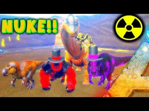 ARK - NUKING THE TITANOSAUR, DODOREX  VS TITANOSAUR, WARDENS VS TITAN ( ARK Modded Gameplay )