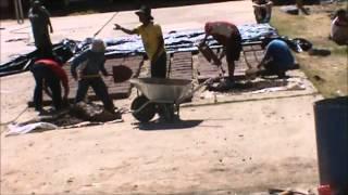 Making Adobe Blocks in Chocos, Peru time lapse
