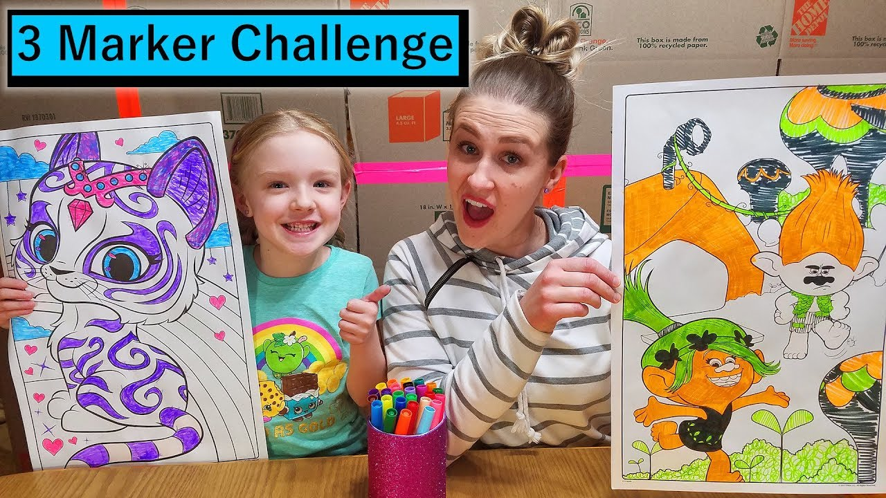 3 Marker Challenge w My Mom GIANT