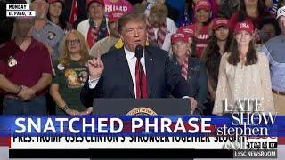 Trump 2020: Stolen Slogans