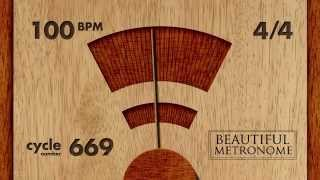 100 BPM 4/4 Wood Metronome HD
