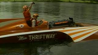 Miss Thriftway Vintage Hydroplane 1st Launch