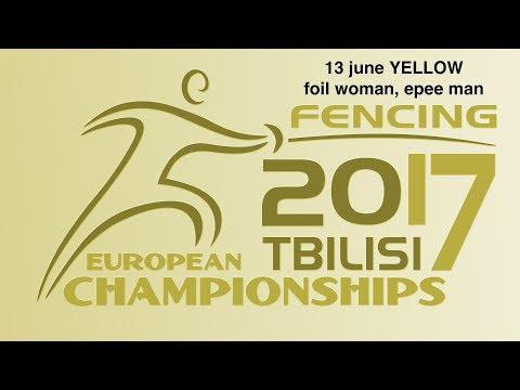 #European Champioships Tbilisi Woman Foil/Man Epee individual YELLOW piste