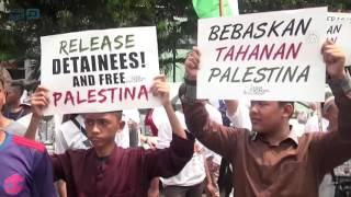 مصر العربية |  مظاهرة في إندونيسيا تطالب بالإفراج عن المعتقلين الفلسطينيين