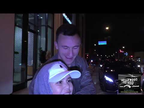 Johnny Manziel leaves Catch Restaurant in West Hollywood