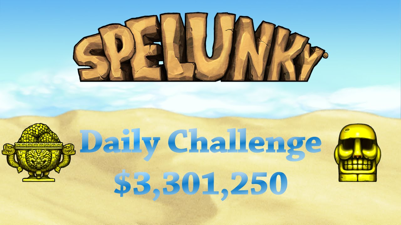 Spelunky $3 301 250 daily challenge summary