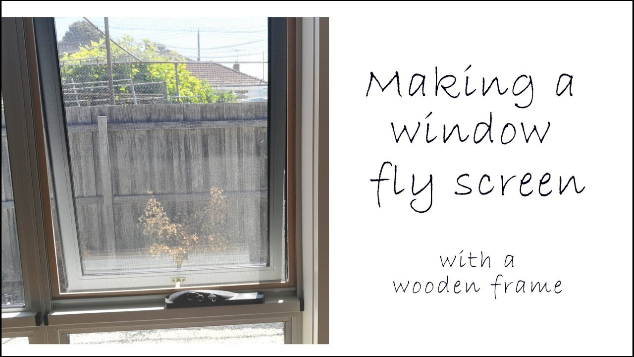 Making Window Fly Screens with a wooden frame - YouTube