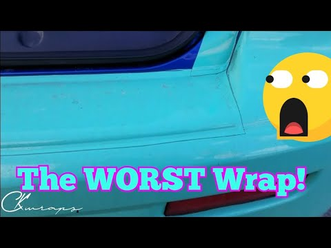 WOW! THE WORST VINYL WRAP I'VE EVER SEEN!!!!! FULL VIDEO!!!!
