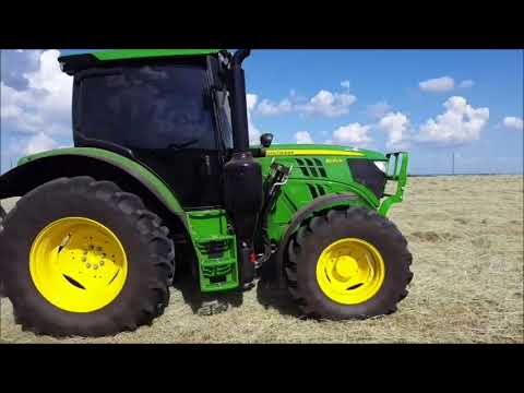 Baling Horse Hay with the New John Deere 6120R