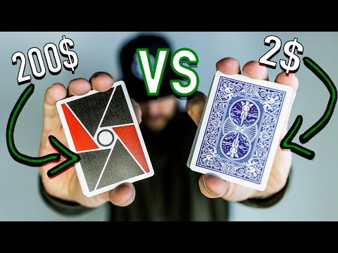 2$ Deck of Cards vs 200$ Deck of Cards!!
