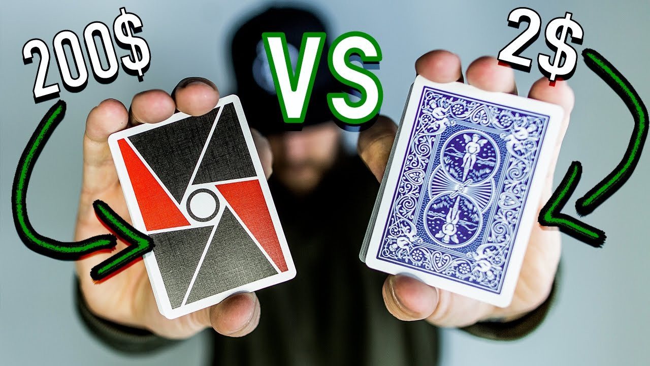 2 deck of cards vs 200 deck of cards youtube