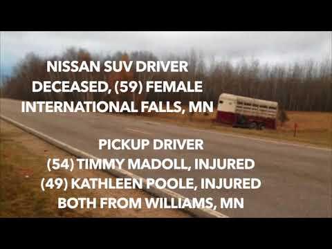 Deadly Crash Near Warroad, MN