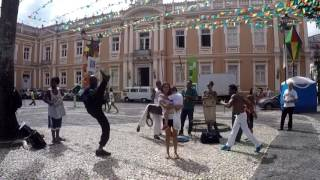 Capoeira - Mom & Son Almost Get Their Heads Kicked Off for Fun