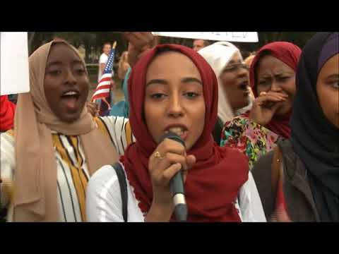 Sudan's  protests against Sanctions september 2017 White House