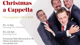Christmas a Cappella with 4 IN A BAR: Dec 2018 YouTube Thumbnail