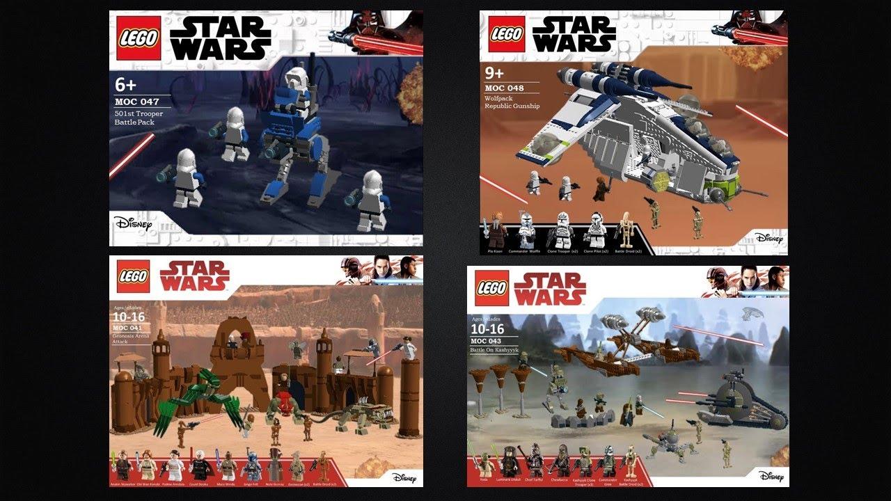 Custom Lego Star Wars Sets 501st Battle Pack Geonosis Arena