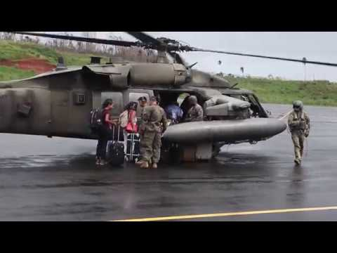 B-Roll: Joint Task Force - Leeward Islands evacuate U.S. citizens from Dominica