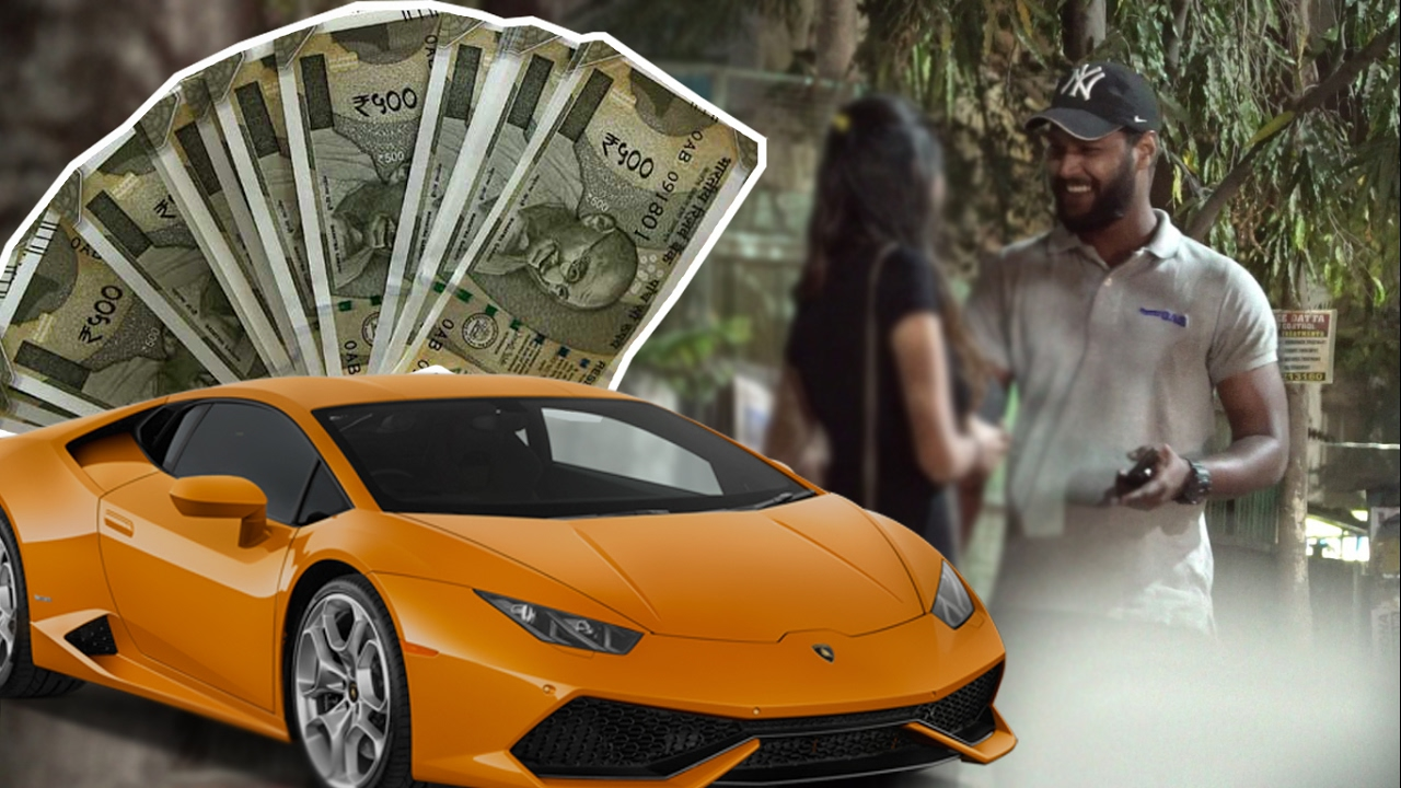 gold digger lamborghini prank india pune starbucks money can do anything pranks 2017. Black Bedroom Furniture Sets. Home Design Ideas