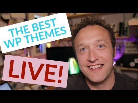 The Most Popular WordPress Themes + LIVE Q&A