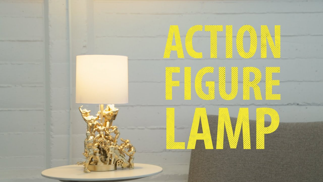 Interesting Action Figure Lamp With 33 Beauty Diy Floor Shade