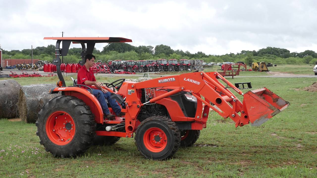 Demo Video of Used Kubota MX5200 Tractor with Loader Canopy : canopy for kubota tractor - memphite.com
