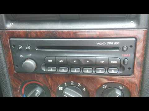 Estereo radio Am Fm CD Astra Chevrolet GM 2001-2005 VDO CDR 500