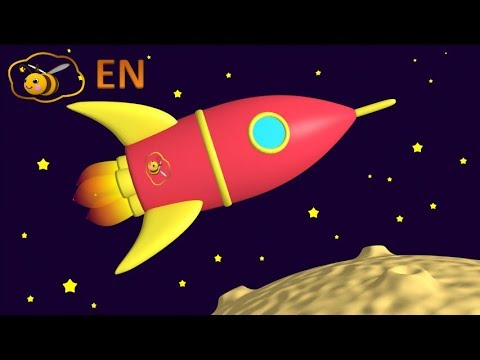 Space rocket toy from a surprise egg. Educational cartoon for children