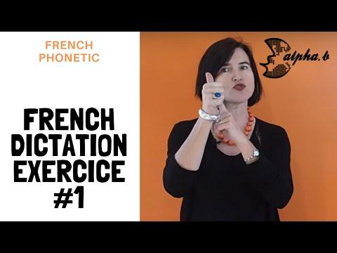 French pronunciation - Dictée 1 - Phonétique (é, è...), Grammaire (imparfait), Vocabulaire (voiture)