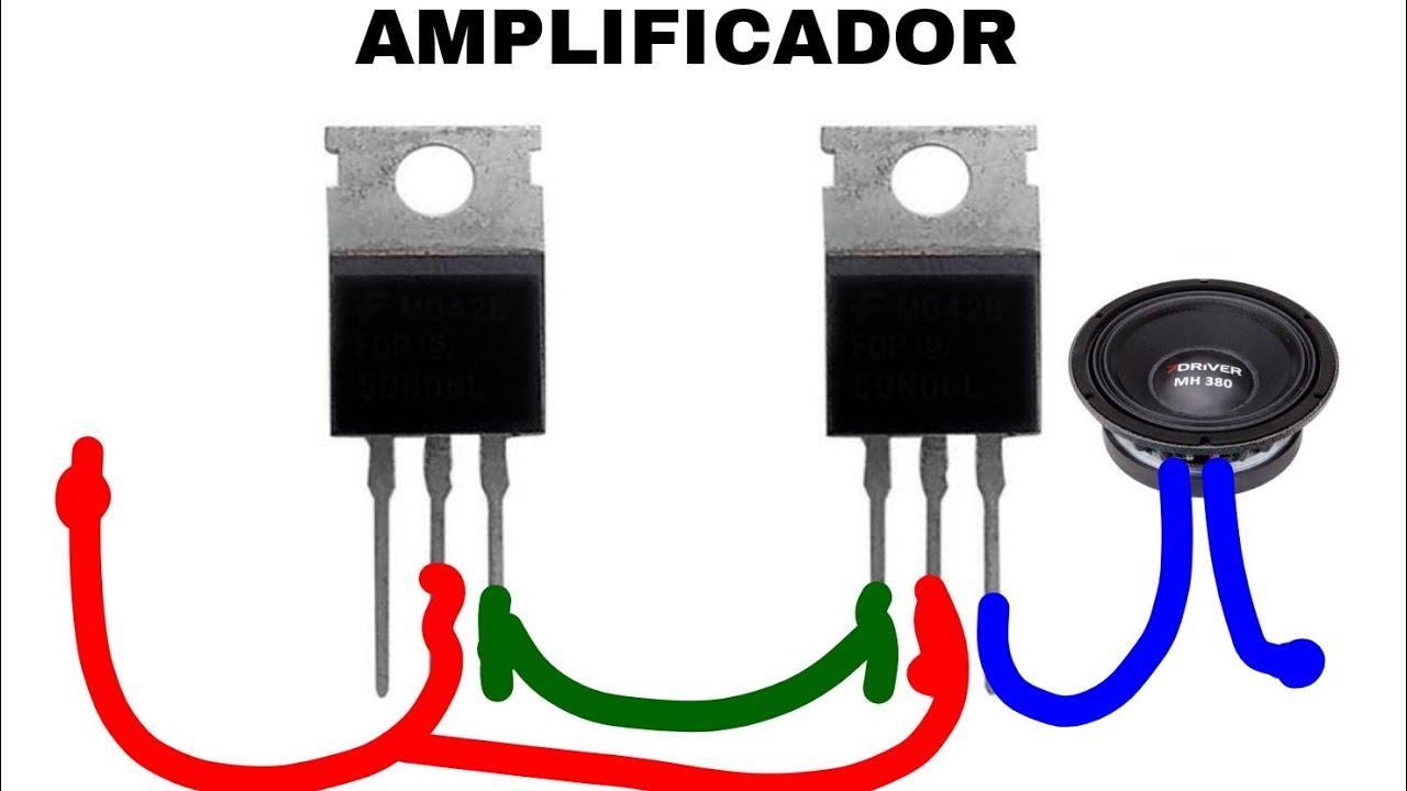 13007 amplificador com TRANSISTOR npn