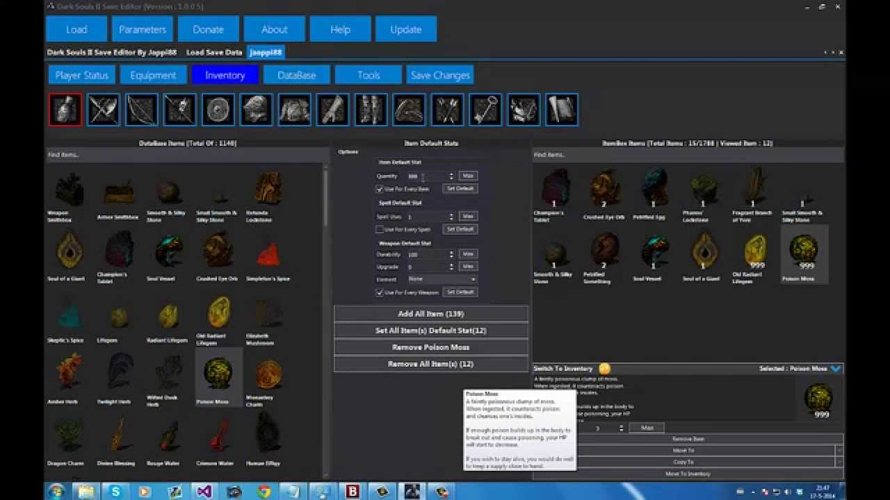 [PS3 & XBOX360]Dark Souls II Save Editor By Jappi88