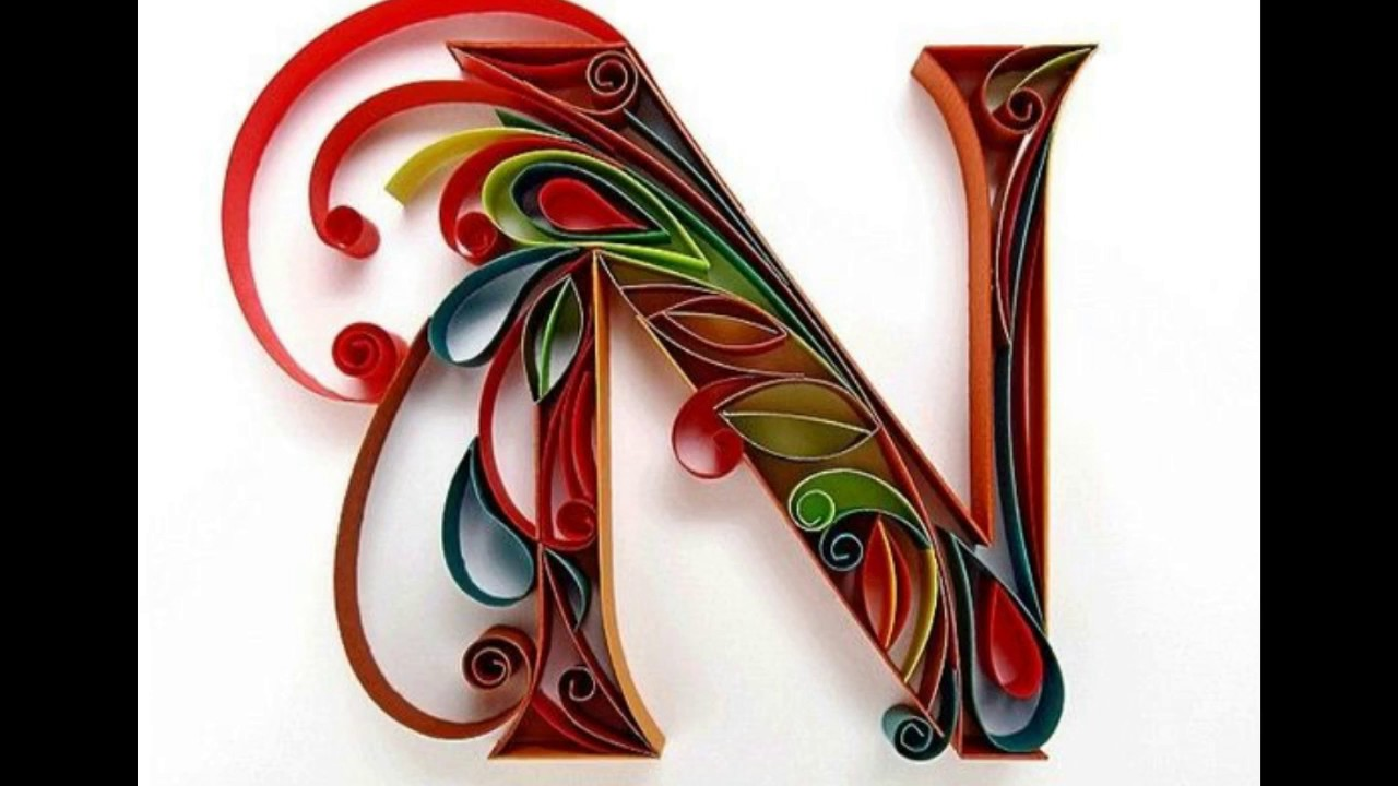 maxresdefault Quilling Letter Template D on