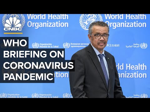 World Health Organization Holds A Briefing On The Coronavirus As Cases Surge — 11/2/2020